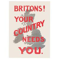 Britons! Your Country Needs You Postcard