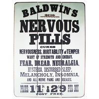 Nervous Pills Wooden Sign