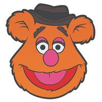 Muppets Fozzie Bear PVC Shaped Coaster