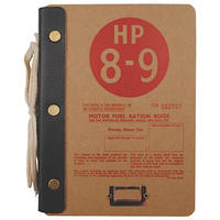 Motor Fuel Rations Hardboard Cover Notebook