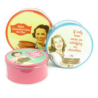 Set of 3 Chocolate Cake Humour Storage Tins