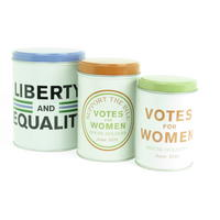 Suffragettes Set of 3 Tin Canisters