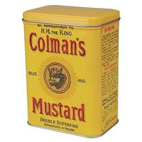 Colman's Mustard Small Hinged Lid Tin Canister