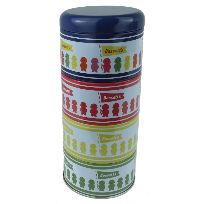 Jelly Baby Gifts Uk : Jelly babies set of stacking tins metal kitchen storage