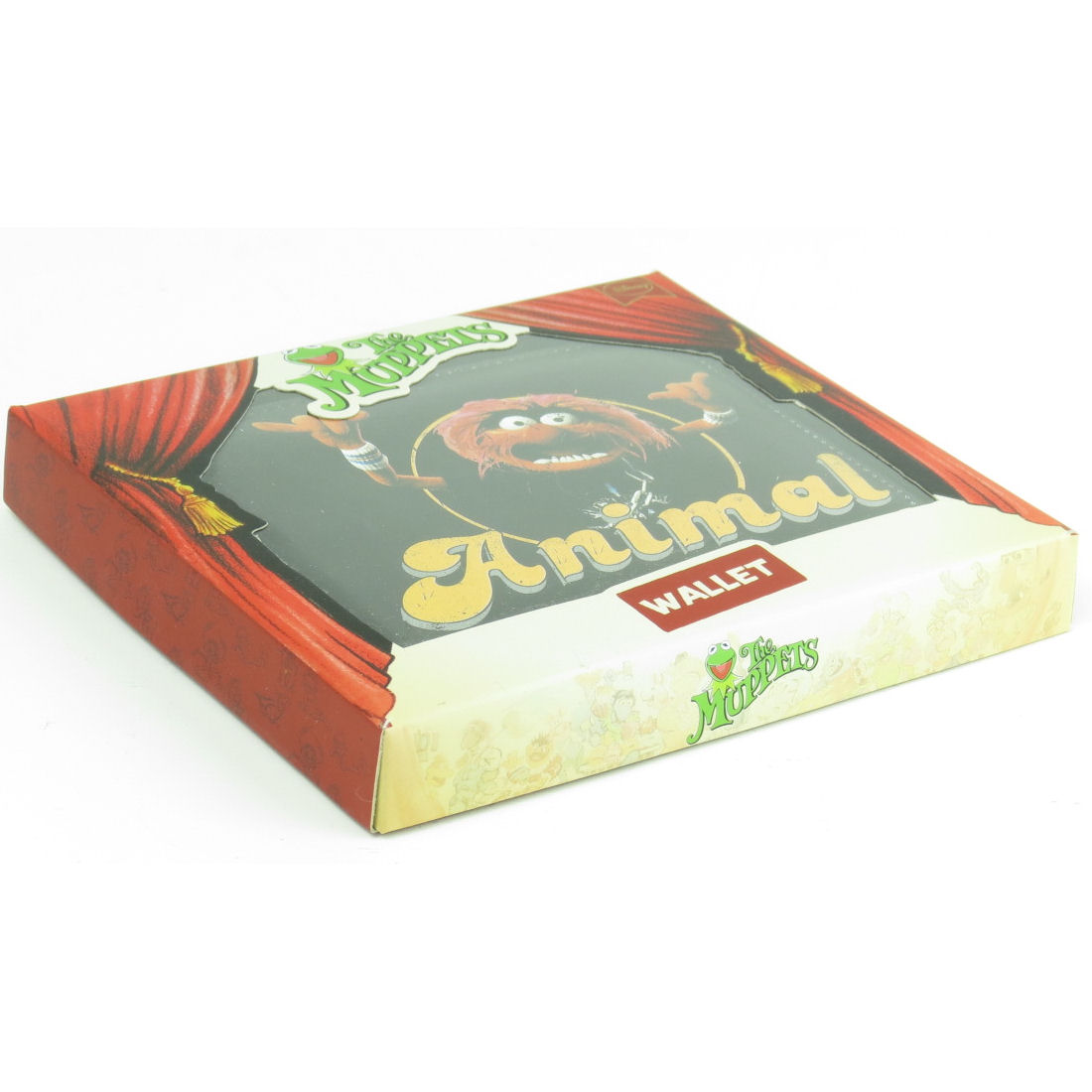 MUPPETS ANIMAL BOXED WALLET RETRO CARD HOLDER COIN SECTION FAUX LEATHER GIFT