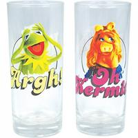 Kermit & Miss Piggy Set Of 2 Glasses Thumbnail 1