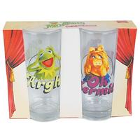 Kermit & Miss Piggy Set Of 2 Glasses Thumbnail 3