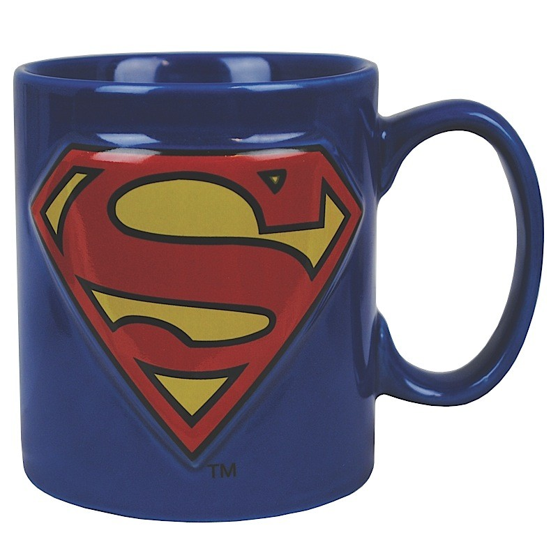 Superman Embossed Logo Mug