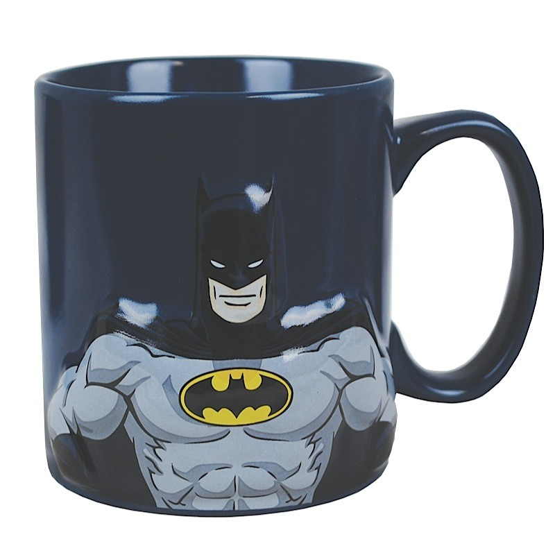 Batman Embossed Figure & Logo Mug