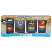 Set of 4 Justice League America Shot Glasses