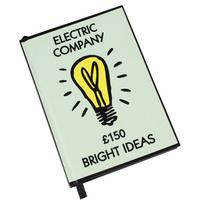 """Monopoly """"Electric Company Bright Ideas"""" A6 Notebook"""