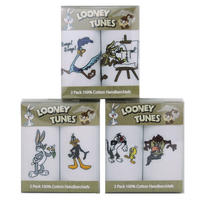 Looney Tunes Pack Cotton Handkerchiefs