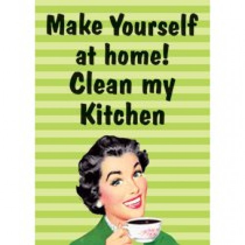 housewife humour make yourself at home clean my kitchen tea towel buy online. Black Bedroom Furniture Sets. Home Design Ideas