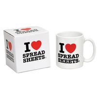 I Heart Spreadsheets Mug