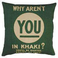 Why Aren't You In Khaki? Cushion