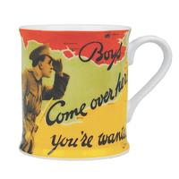 WW1 Boys Come Over Here You're Wanted Mug