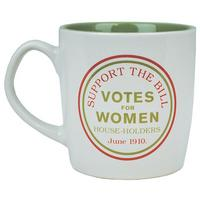 "Suffragettes ""Support The Bill/Votes For Women"" Mug"