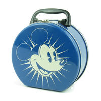 View Item Mickey Mouse Round Tin Tote/Lunch Box