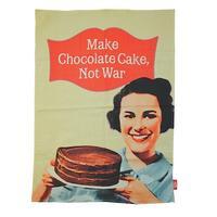 Make Chocolate Cake Not War Tea Towel
