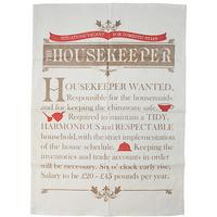 Housekeeper Wanted Tea Towel