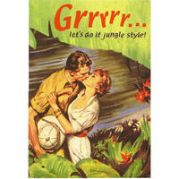Grrrrr? Let's Do It Jungle Style! Greeting Card