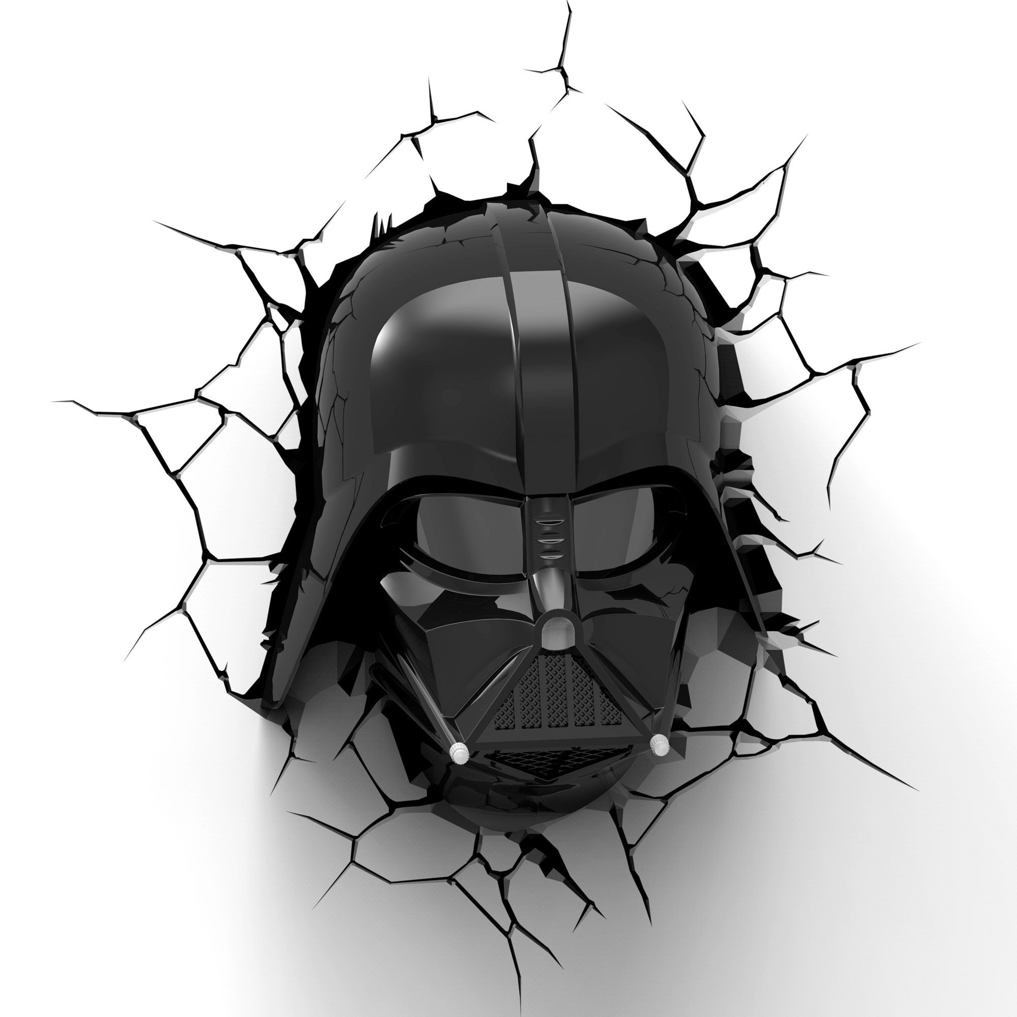 Darth Vader Mask 3D Light FX Deco LED Wall Night Light Star Wars Timer Remote eBay