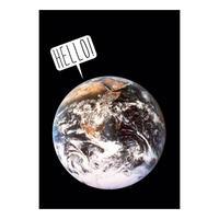 Hello Planet Earth Postcard