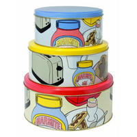 Marmite Pop Art Set Of 3 Cake Tins Designed By The Royal College of Art.