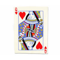 Queen Of Hearts Playing Card Tea Towel