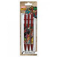 Marvel Comic Covers 3 Piece Pen & Pencil Set