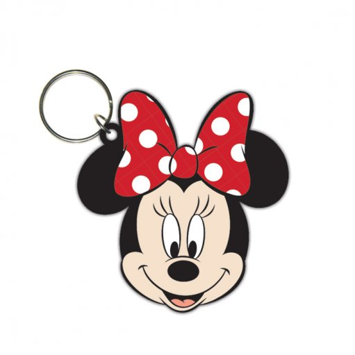 Disney Minnie Mouse (Head) Rubber Keyring