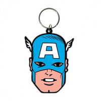 Captain America (Face) Rubber Keyring