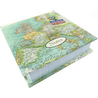 Vintage Map Memo Block