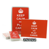 Keep Calm & Play Cards Playing Card Game Set In A Tin