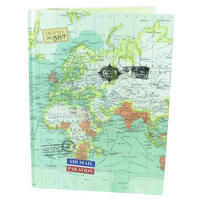 Vintage Map A4 Hardback Notebook