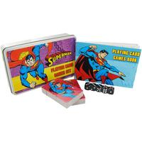 Superman Playing Card Game Set In A Tin