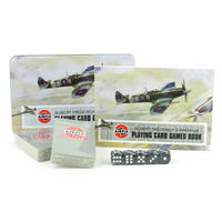 Airfix Spitfire Playing Card Game Set In A Tin