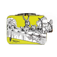 View Item Alice In Wonderland Tea Party Tin Tote/Lunch Box