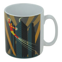 Art Deco Iron Man Flying Mug