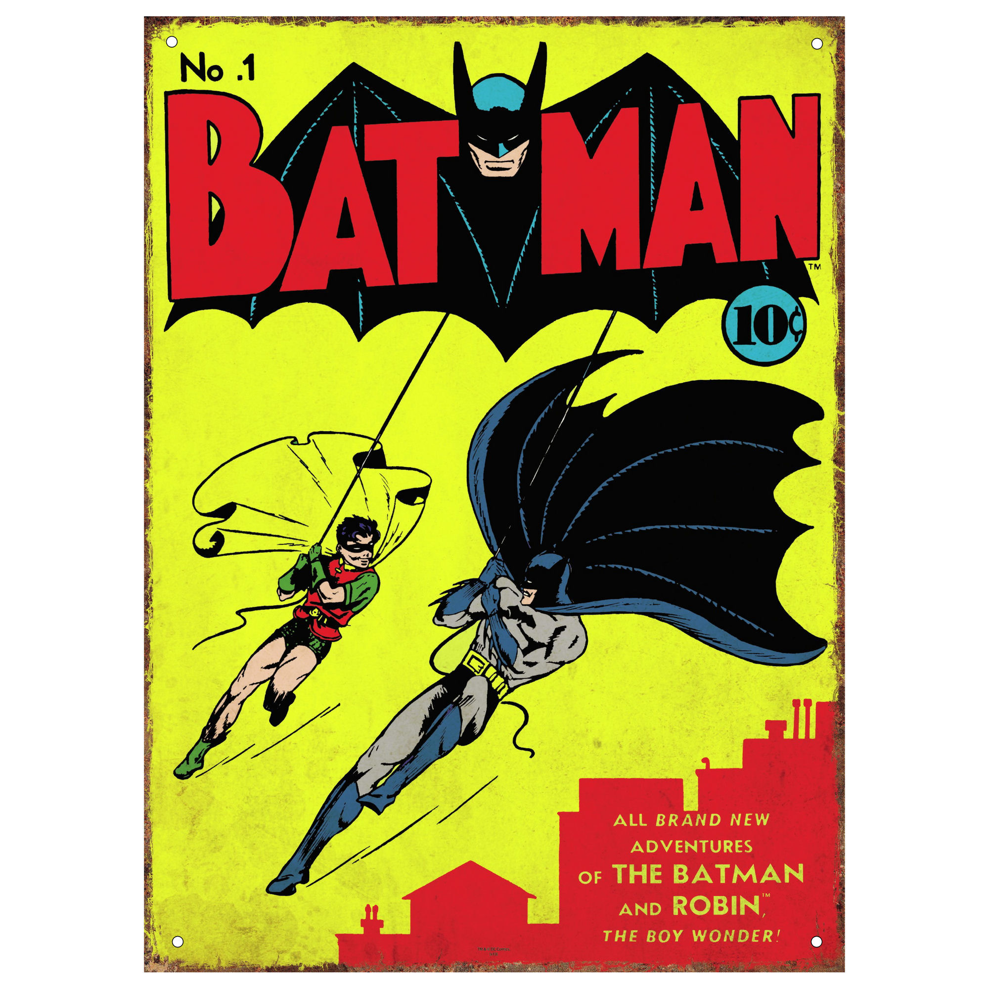 Batman Comic Cover No.1 Large Steel Sign