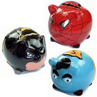 Superhero Pig Ceramic Money Boxes