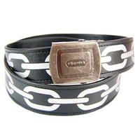 Chainlink Adjustable Faux Leather Belt