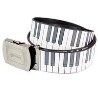 Piano Keys Adjustable Faux Leather Belt