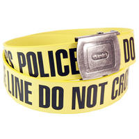 Police Line Adjustable Faux Leather Belt