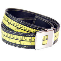 Tape Measure Adjustable Faux Leather Belt