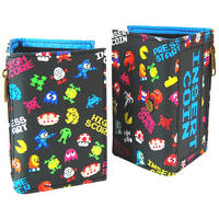 """Pixel Arcade Characters """"Insert Coin"""" Tri Fold Wallet"""