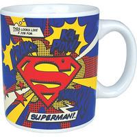 """Superman """"Krakk! Ka-Pow! Thwakk!"""" Mug"""
