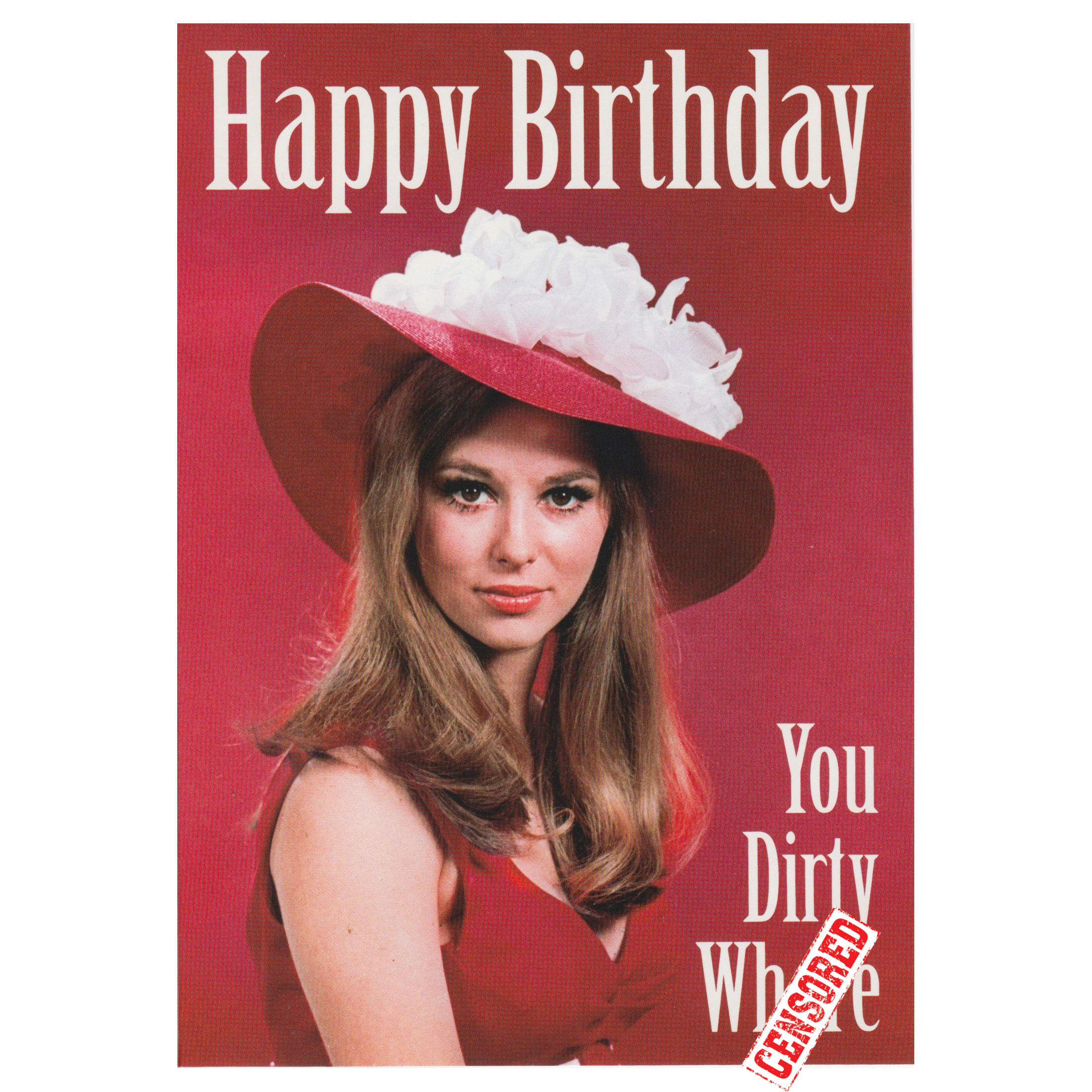HAPPY BIRTHDAY YOU DIRTY WHRE GREETING CARD BIRTHDAY ADULT HUMOUR – Rolling Stones Birthday Card