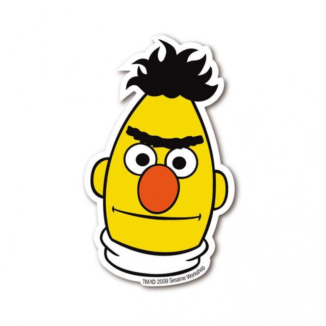 Bert Die Cut Shaped Fridge Magnet Retro Metal Gift Sesame