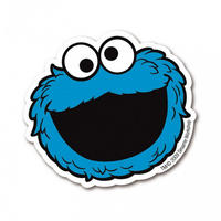 Cookie Monster Face Die Cut Fridge Magnet